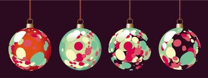 Esferas pontilhadas do Natal Fotos de Stock Royalty Free