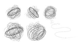 Esferas pretas do scribble Imagens de Stock Royalty Free