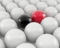 Esferas pretas e vermelhas Imagem de Stock