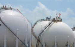 Esferas químicas do armazenamento Foto de Stock Royalty Free