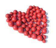Esferas que dão forma a um coração Fotografia de Stock Royalty Free