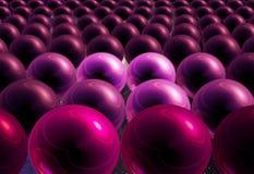 Esferas roxas no espaço ilustração do vetor