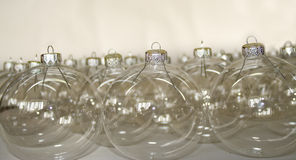 Esferas transparentes do Natal Fotos de Stock Royalty Free