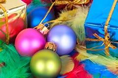 Esferas vívidas do Natal. Foto de Stock Royalty Free