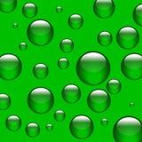 Esferas verdes Fotografia de Stock
