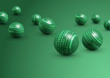 Esferas verdes abstractas Fotos de archivo libres de regalías