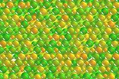 Esferas verdes claras inconsútiles y modelo geométrico de las burbujas Foto de archivo