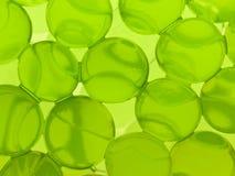 Esferas verdes del gel imagenes de archivo