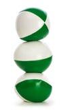 Esferas verdes do esforço isoladas Foto de Stock