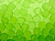 Esferas verdes do gel Imagens de Stock