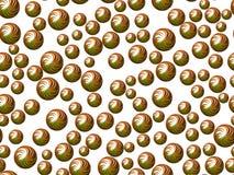 Esferas verdes en el fondo blanco Imagen de archivo libre de regalías