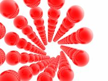 Esferas vermelhas Fotos de Stock Royalty Free