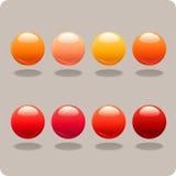 Esferas vermelhas & alaranjadas Fotografia de Stock Royalty Free