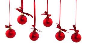 Esferas vermelhas de suspensão Fotografia de Stock Royalty Free