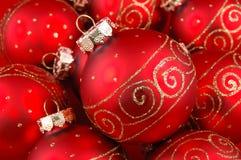 Esferas vermelhas do Natal Foto de Stock Royalty Free