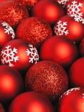 Esferas vermelhas do Natal Foto de Stock