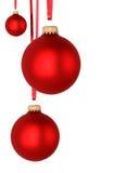 Esferas vermelhas do Natal Fotos de Stock Royalty Free