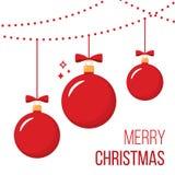 Esferas vermelhas do Natal ilustração royalty free