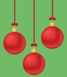 Esferas vermelhas do xmas Fotografia de Stock Royalty Free