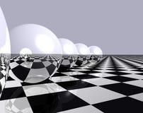 Esferas y ajedrez 2 Imágenes de archivo libres de regalías