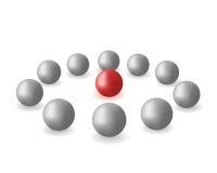 Esferas y círculo stock de ilustración