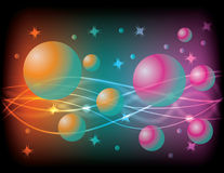 Esferas y remolinos Stock de ilustración
