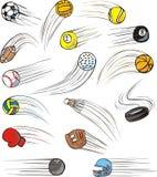 Esferas zumbindo do esporte ilustração stock