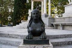 Esfinge de la piedra en parque Imagenes de archivo
