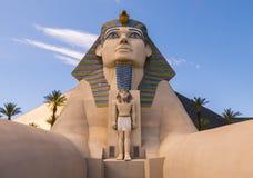 Esfinge en el hotel Las Vegas - LAS VEGAS, NEVADA APRIL 12, 2015 de Luxor Fotos de archivo libres de regalías