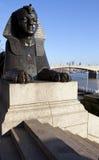 Esfinge en el terraplén de Londres Fotografía de archivo libre de regalías