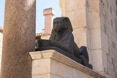 Esfinge en palacio del ` s de Diocletian Foto de archivo libre de regalías