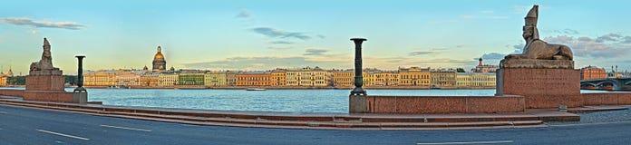 Esfinges en el terraplén de la universidad en St Petersburg fotografía de archivo libre de regalías