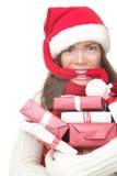 Esforço da compra do Natal Fotos de Stock Royalty Free