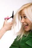 Esforço do cabelo Imagens de Stock Royalty Free