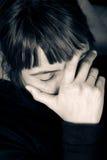 Esforço e dor de cabeça Fotos de Stock Royalty Free