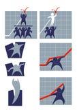 Esforço para o sucesso comercial Imagens de Stock