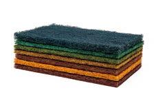 7 esfregue almofadas Fotografia de Stock