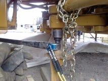 Esfuerzo de torsión hidráulico en armado Foto de archivo