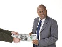 Esfuerzo supremo con el dinero grande Imagenes de archivo