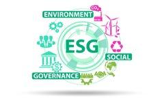 Free ESG Concept As Environmental And Social Governance Royalty Free Stock Image - 190180226