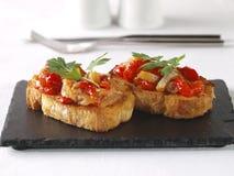 Esgarraet – Red pepper & cod Salad Stock Photos