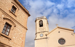 Esglesia De Calafell - cathédrale catholique dans la vieille ville Photographie stock libre de droits