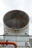 Esgote respiradouros do condicionamento de ar e da unidade industriais da ventilação Foto de Stock
