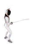 Esgrimista fêmea Fotografia de Stock Royalty Free