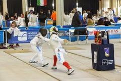 Esgrimistas em campeonatos italianos Imagens de Stock Royalty Free