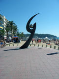 Esguard sculpture in lloret De Mar Costa Brava Royalty Free Stock Images