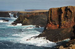 Eshaness cliffs on Shetland Islands Royalty Free Stock Photography