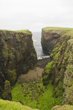 Eshaness Cliffs, Shetlands Stock Photos