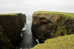 eshaness Shetland απότομων βράχων Στοκ Εικόνα