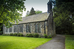 Esholt Village Church. The church in Esholt, near Bradford, in West Yorkshire, England. Esholt is the traditional filming location of the second-longest running Stock Images